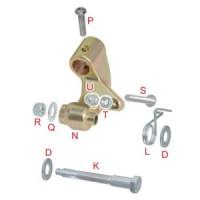 Полный комплект крепления регулируемой педали тормоза OTK